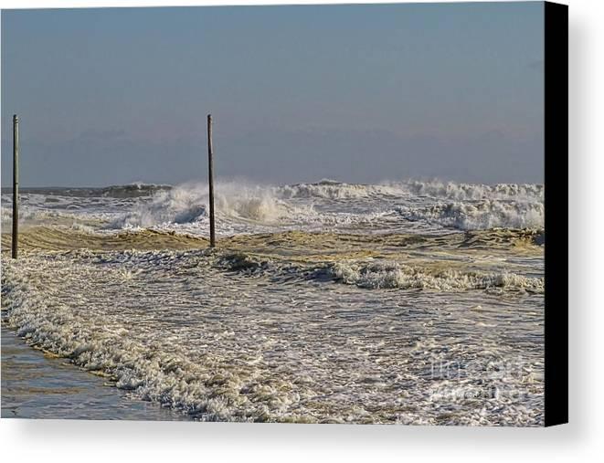 Waves Canvas Print featuring the photograph After Storm Sandi by Deborah Benoit