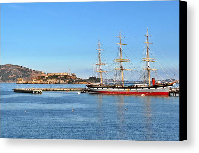 Alcatraz Canvas Print featuring the photograph Alcatraz - No Escape by Christine Till