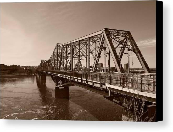 Alexandria Bridge Canvas Print featuring the photograph Alexandria Bridge by Josef Pittner