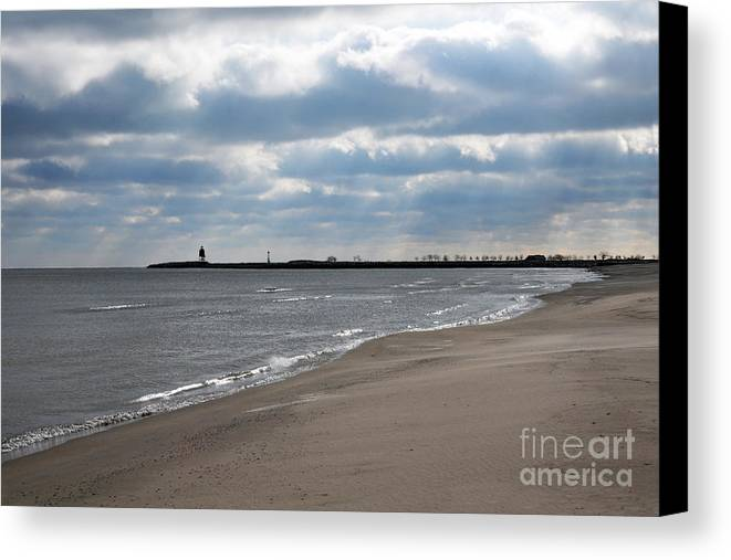 Beach Canvas Print featuring the photograph Along The Shore by Dan Holm