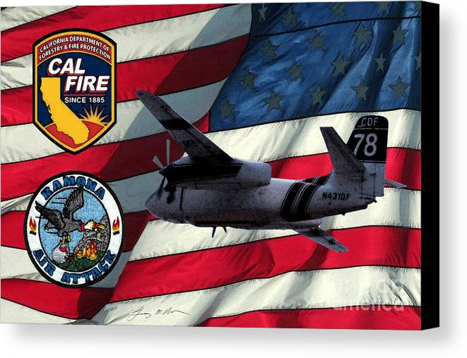 Firefighing Canvas Print featuring the digital art American Hero 2 by Tommy Anderson