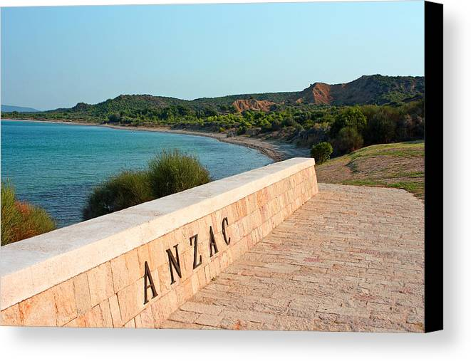 Anzac Canvas Print featuring the photograph Anzac by Angela Siener