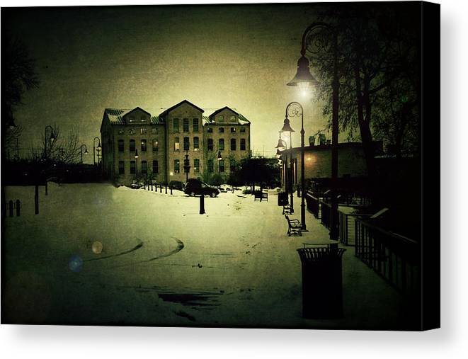 Appleton Canvas Print featuring the photograph Appleton Waterfront by Joel Witmeyer