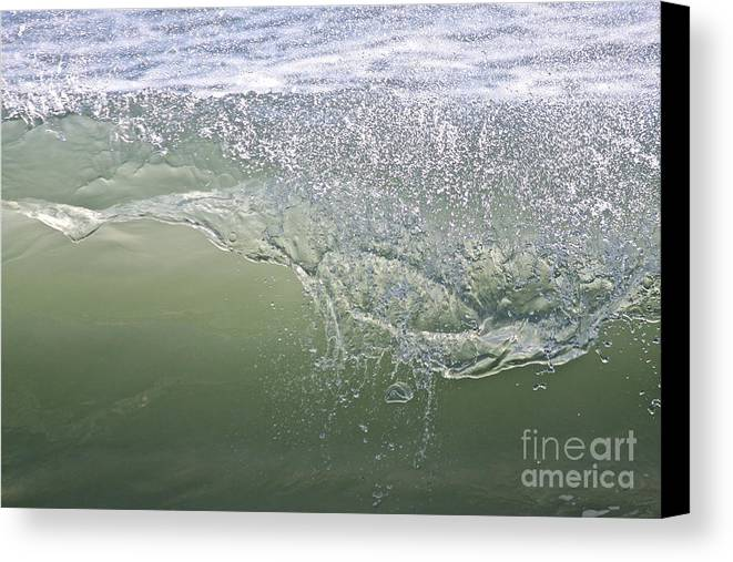 Sea Canvas Print featuring the photograph Aqua Action by Bev Veals
