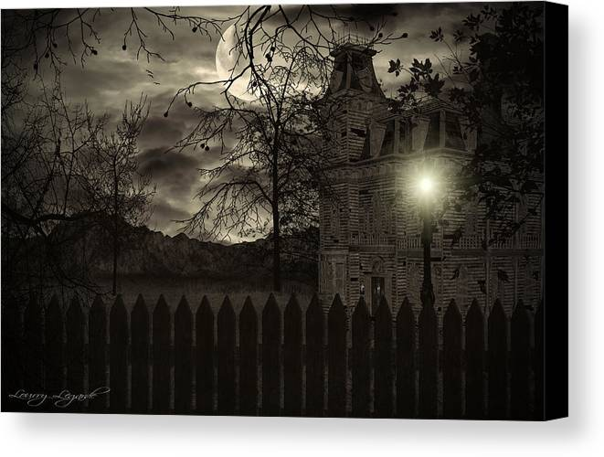 Haunted House Canvas Print featuring the photograph Arrival by Lourry Legarde