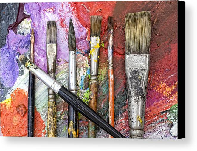 Art Canvas Print featuring the photograph Art Is Messy 6 by Carol Leigh