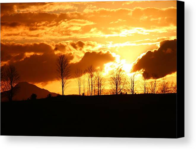 Sky Canvas Print featuring the photograph Autumn Beauty 1 by Corinne Boomhower