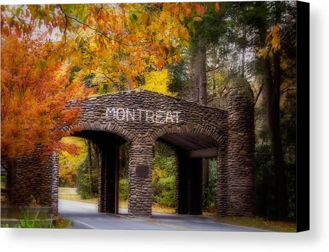Asheville Canvas Print featuring the photograph Autumn Gate by Joye Ardyn Durham