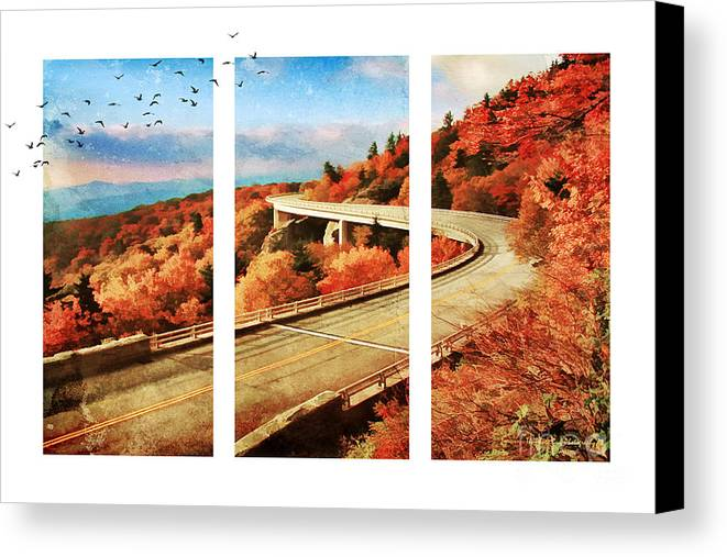 Architecture Canvas Print featuring the photograph Autumn In North Carolina by Darren Fisher