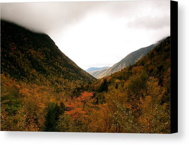 New Hamsphire Canvas Print featuring the photograph Autumn In The Mountains by Amanda Kiplinger