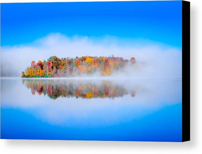 Canvas Print featuring the photograph Autumn Island by Brian Stevens