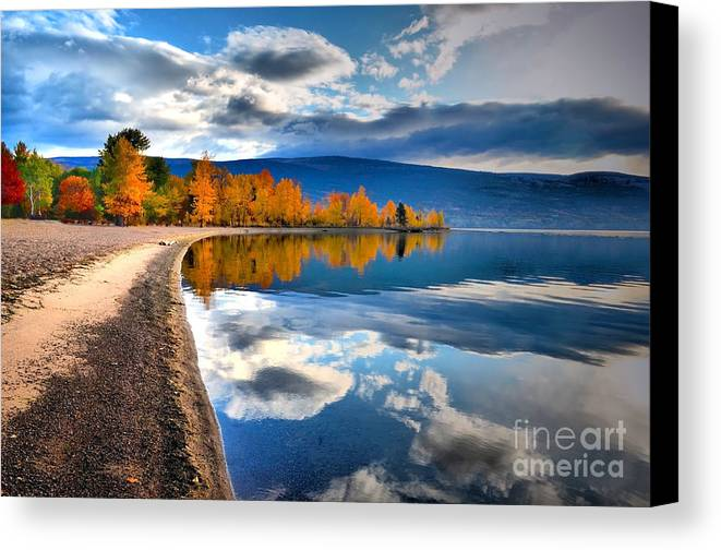 Autumn Canvas Print featuring the photograph Autumn Reflections In October by Tara Turner