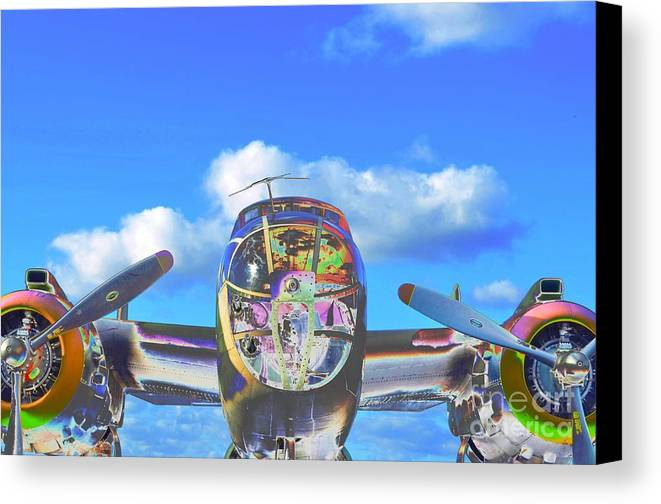 North American B-25j Mitchell Canvas Print featuring the photograph B-25j Jazzed by Lynda Dawson-Youngclaus