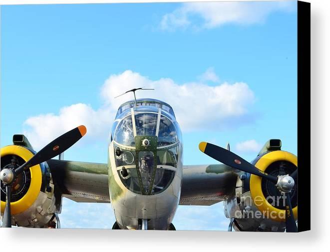 North American B-25j Mitchell Canvas Print featuring the photograph B-25j Killer B by Lynda Dawson-Youngclaus