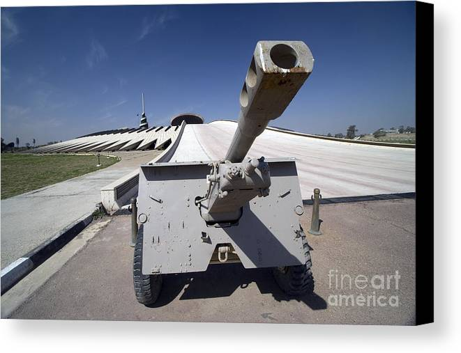 Baghdad Canvas Print featuring the photograph Baghdad, Iraq - An Iraqi Howitzer Sits by Terry Moore