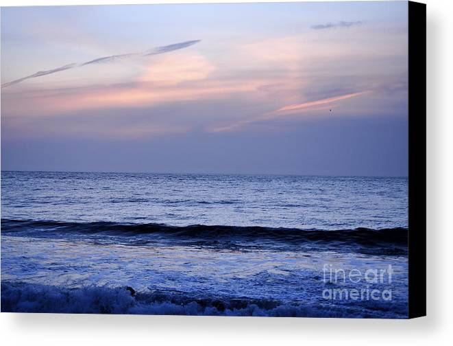 San Francisco Canvas Print featuring the photograph Baker Beach At Sunset by Kim Frank