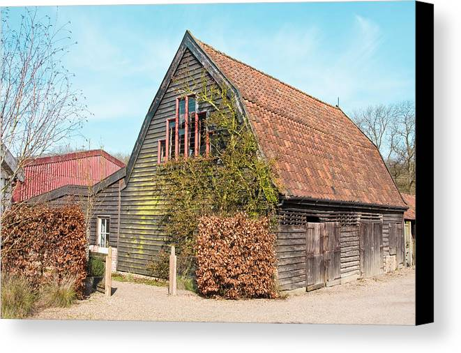 Animals Canvas Print featuring the photograph Barn by Tom Gowanlock
