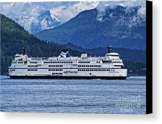 Ferries Canvas Print featuring the photograph B.c. Ferries by Dawn Harris