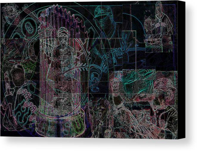 Digital Art Canvas Print featuring the digital art Bean Town V3 by Jimi Bush