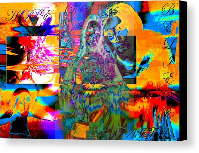 Digital Art Canvas Print featuring the digital art Believe by Jimi Bush