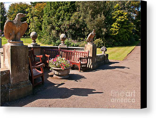 Formal Gardens Canvas Print featuring the photograph Best Benches by David Hollingworth