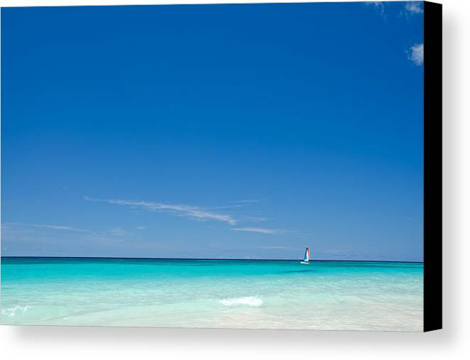 Barbados Canvas Print featuring the photograph Big Blue by Craig Levin