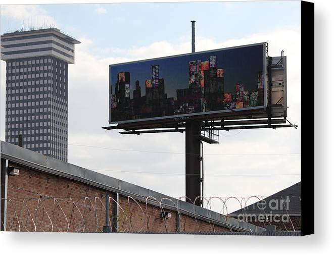 Billboard Art Canvas Print featuring the photograph Billboard Art Project 2011 by Andy Mercer