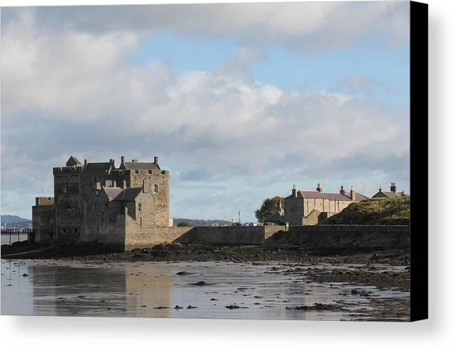 Castle Canvas Print featuring the photograph Blackness Castle by David Grant