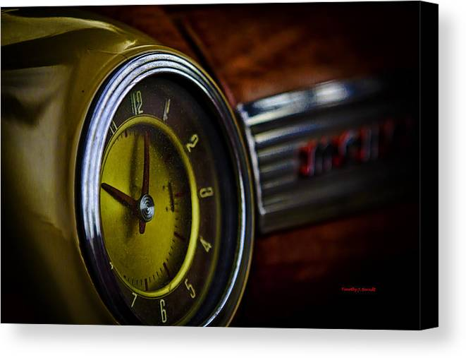 Red Canvas Print featuring the photograph Blast From The Past by Timothy J Berndt