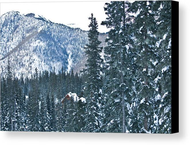 Landscape Canvas Print featuring the photograph Blue Green Mountain by Lisa Spencer