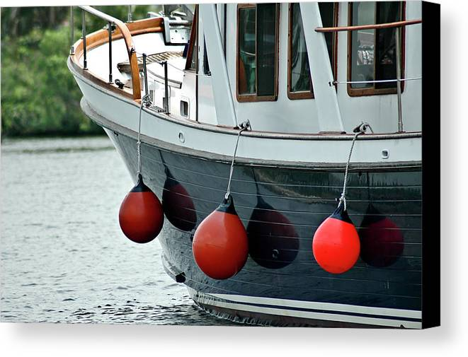 Boat Canvas Print featuring the photograph Boat Time by Carolyn Marshall