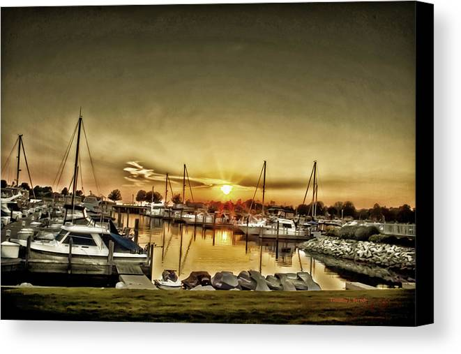 Marnia Canvas Print featuring the photograph Boaters' Delight by Timothy J Berndt