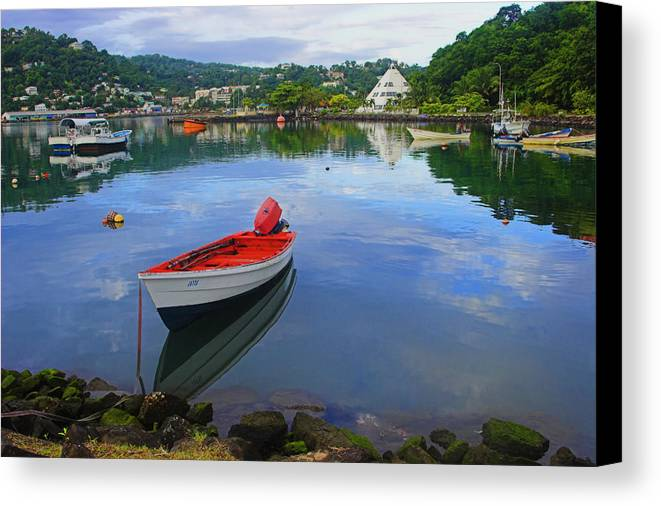 Boat Canvas Print featuring the photograph Boats-castries Harbor- St Lucia by Chester Williams