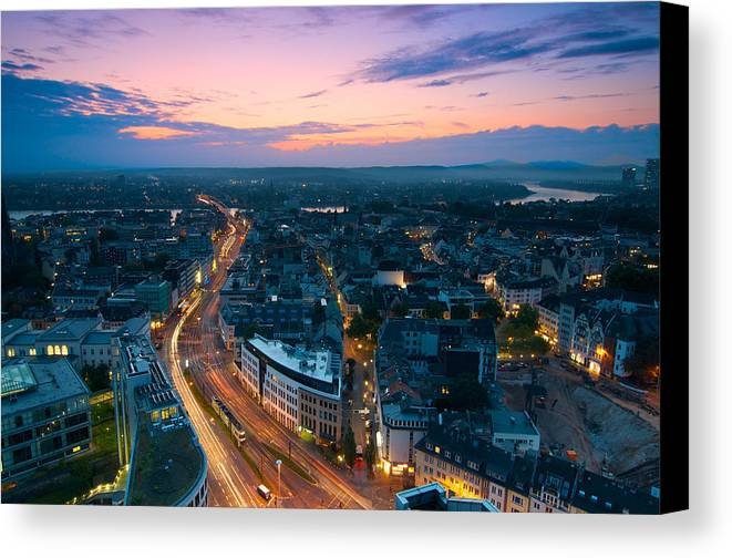 Bonn Canvas Print featuring the photograph Bonn Skyline by Andre Distel