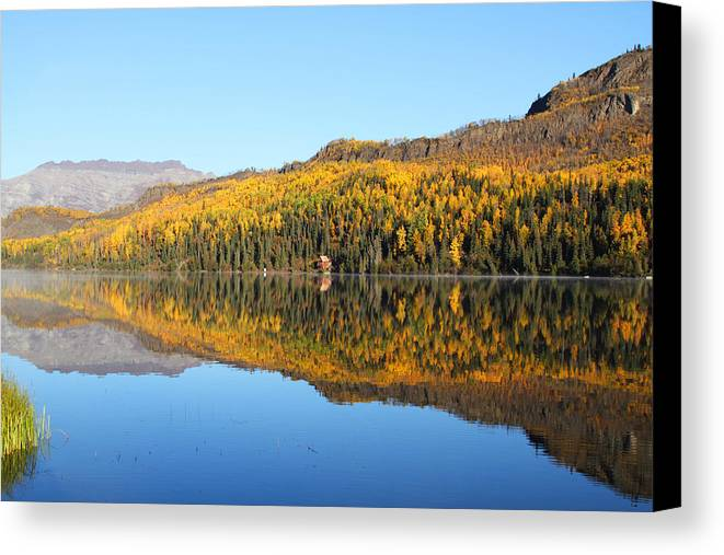 Bonnie Lake Canvas Print featuring the photograph Bonnie Lake Reflections by Doug Lloyd