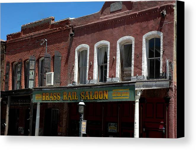 Usa Canvas Print featuring the photograph Brass Rail Saloon by LeeAnn McLaneGoetz McLaneGoetzStudioLLCcom