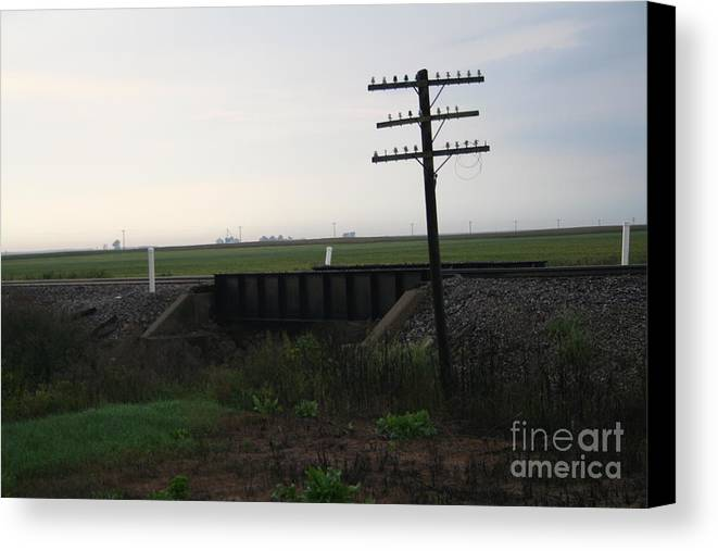 Train Canvas Print featuring the photograph Bridge Over Troubled Waters by Roger Look
