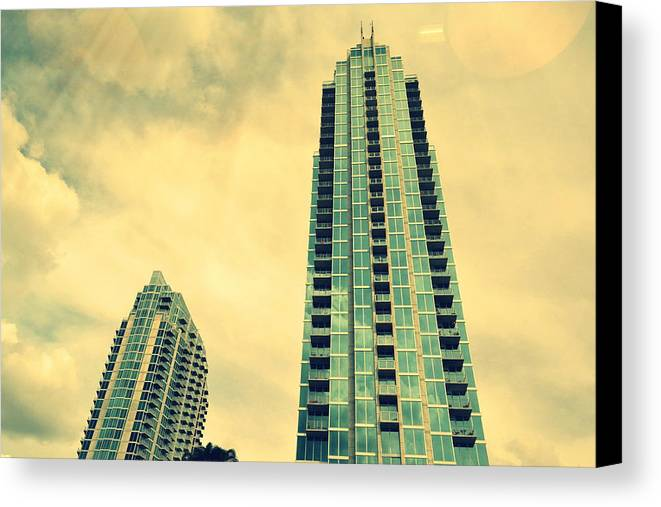 Building Canvas Print featuring the photograph Buildings by Waldo Carbo Jr