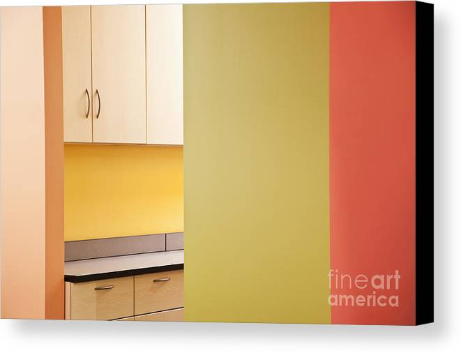 Architecture Canvas Print featuring the photograph Cabinets In An Office Supply Room by Jetta Productions, Inc
