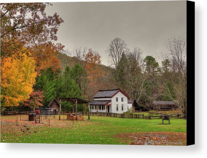2010 Canvas Print featuring the photograph Cable Mill House by Charles Warren