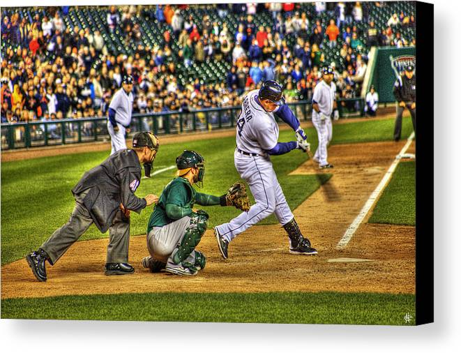 Cabrera Canvas Print featuring the photograph Cabrera Grand Slam by Nicholas Grunas