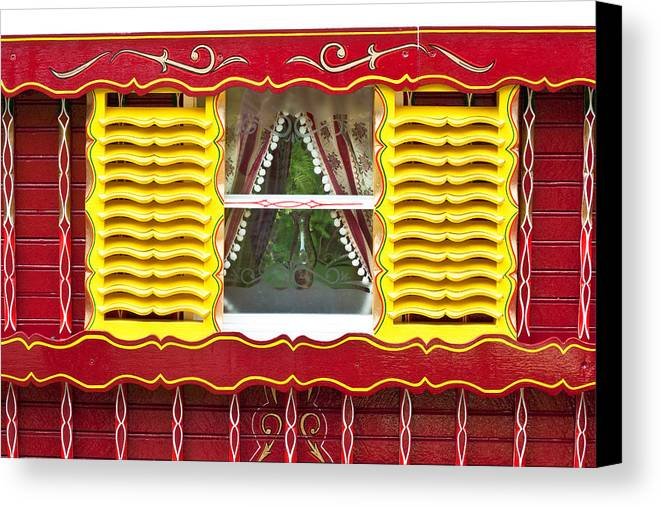 Apartment Canvas Print featuring the photograph Caravan Window by Tom Gowanlock