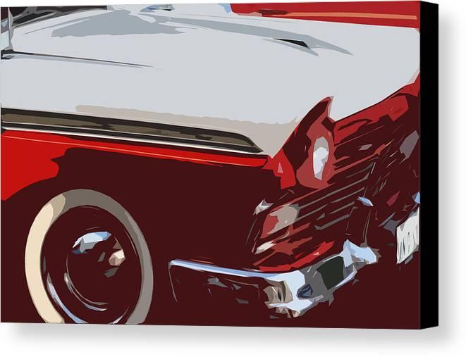 Car Canvas Print featuring the digital art carToon by Elizabeth Alamillo