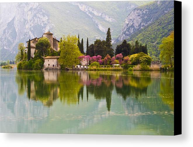 Colors Canvas Print featuring the photograph Castel Toblino by Nardi Nicola