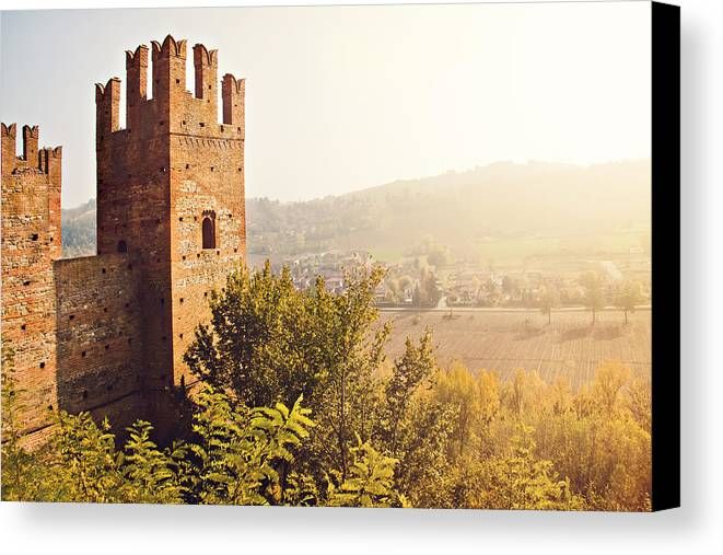 Horizontal Canvas Print featuring the photograph Castell'arquato by Just a click
