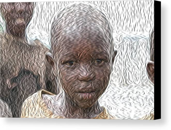 Child Canvas Print featuring the painting Child by Maurizio Bersanelli