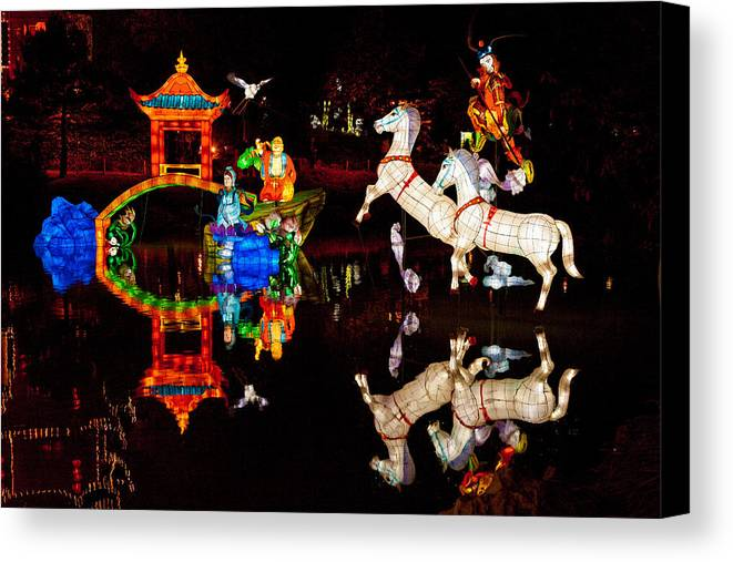 Chinese Lanterns Canvas Print featuring the photograph Chinese Lanterns 6928 by Kenneth Brodeur