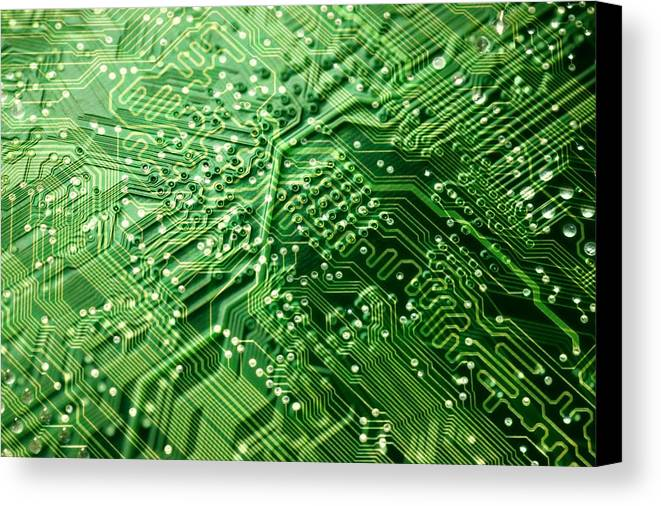 Equipment Canvas Print featuring the photograph Circuit Board, Computer Artwork by Pasieka