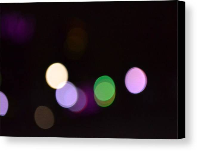 Lights Canvas Print featuring the photograph City Lights by Rebecca Cada