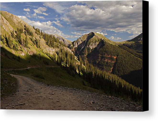 Clear Lake Canvas Print featuring the photograph Clear Lake Road by Jonas Wingfield